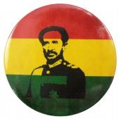 Haile Selassie - 'Rasta' 56mm Badge
